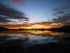 Lever du soleil sur le lac